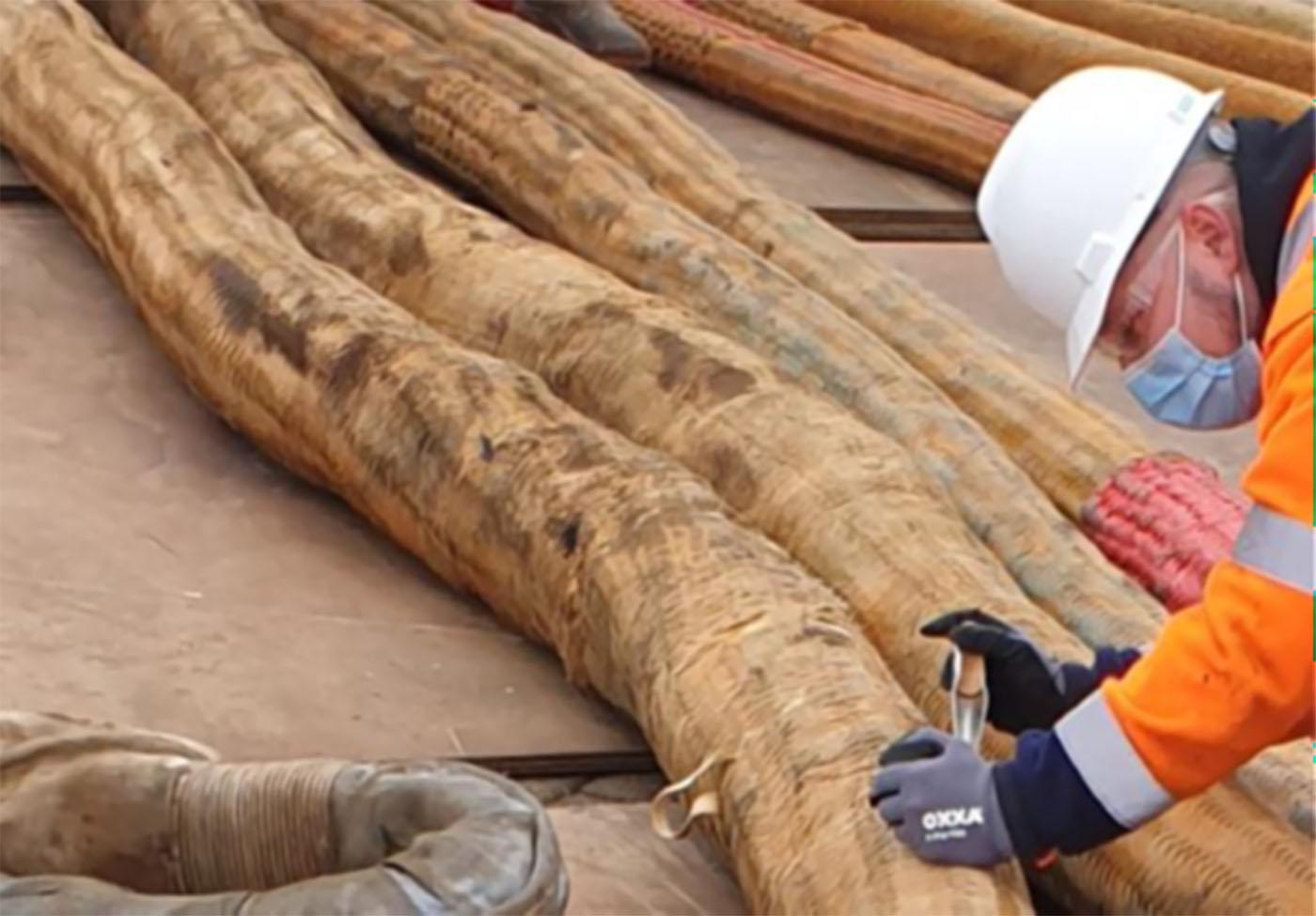 inspection of heavy lift slings
